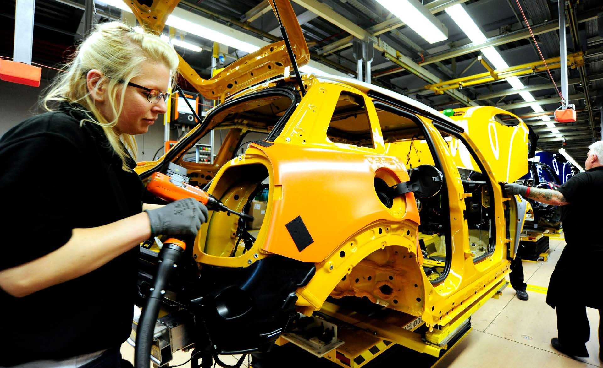 A new MINI drives off the assembly line every 68 seconds - image courtesy of MINI Oxford.