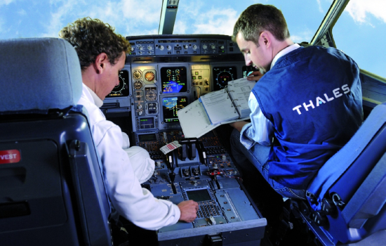 To mark the launch of the Strategy, Aerospace Minister Richard Harrington met workers at Thales - image courtesy of Thales