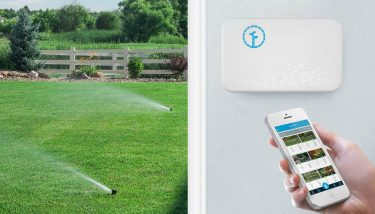 Rachio's 'Smart Sprinkler Controller' enables users to precisely control when and how land is watered via a PC or app-enabled smartphone – image courtesy of Rachio.