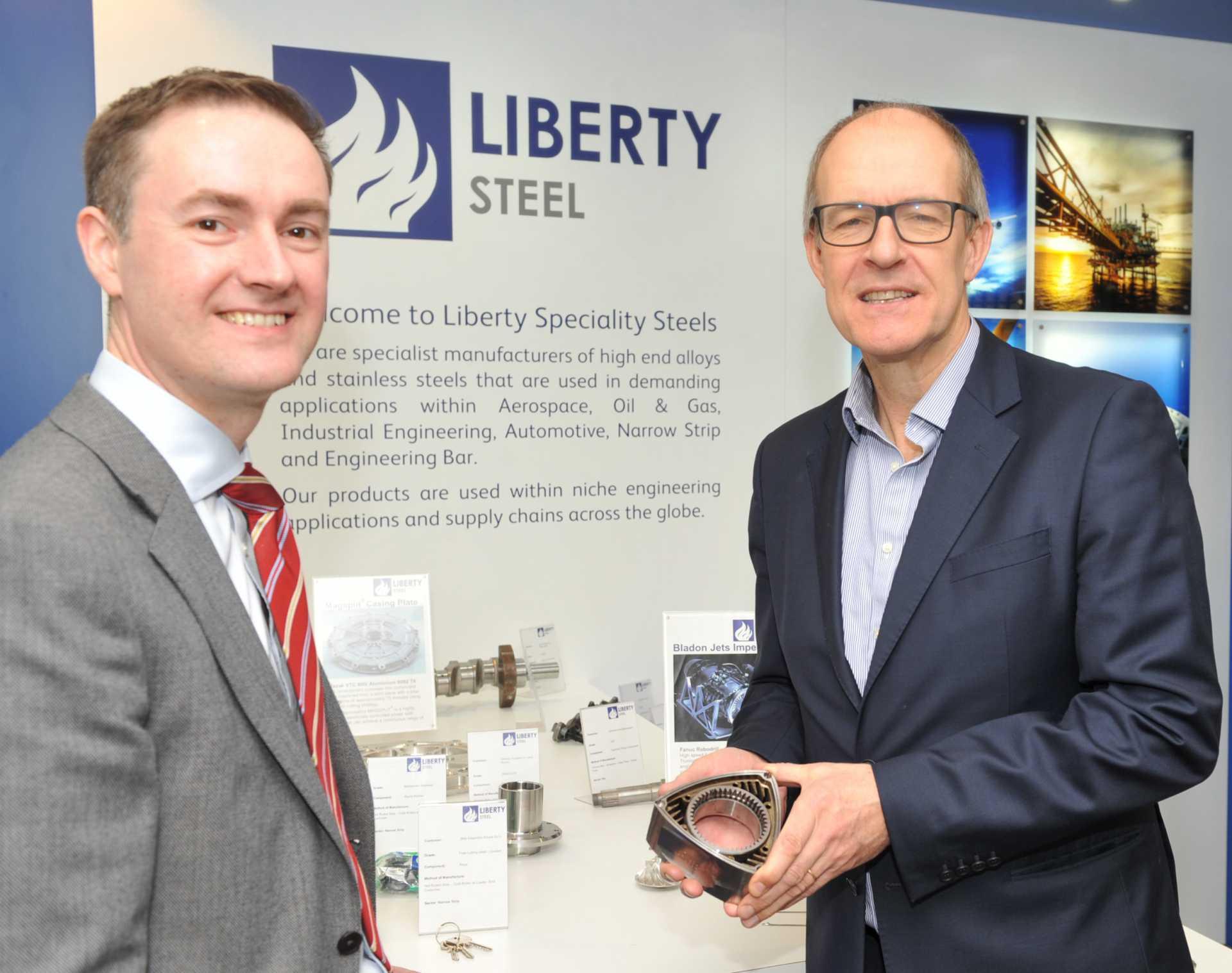 Chris McDonald (MPI) with Jon Bolton (Liberty House Group).