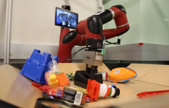 The robot can figure out how to manipulate objects they have never encountered before – image courtesy of The University of California, Berkeley.