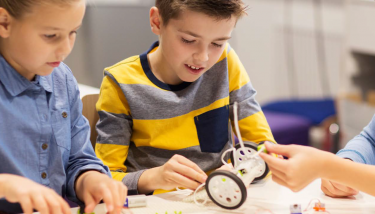 School Children Classroom STEM - Stock