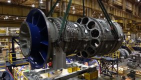 A GE gas turbine under construction. Image courtesy of GE Power.