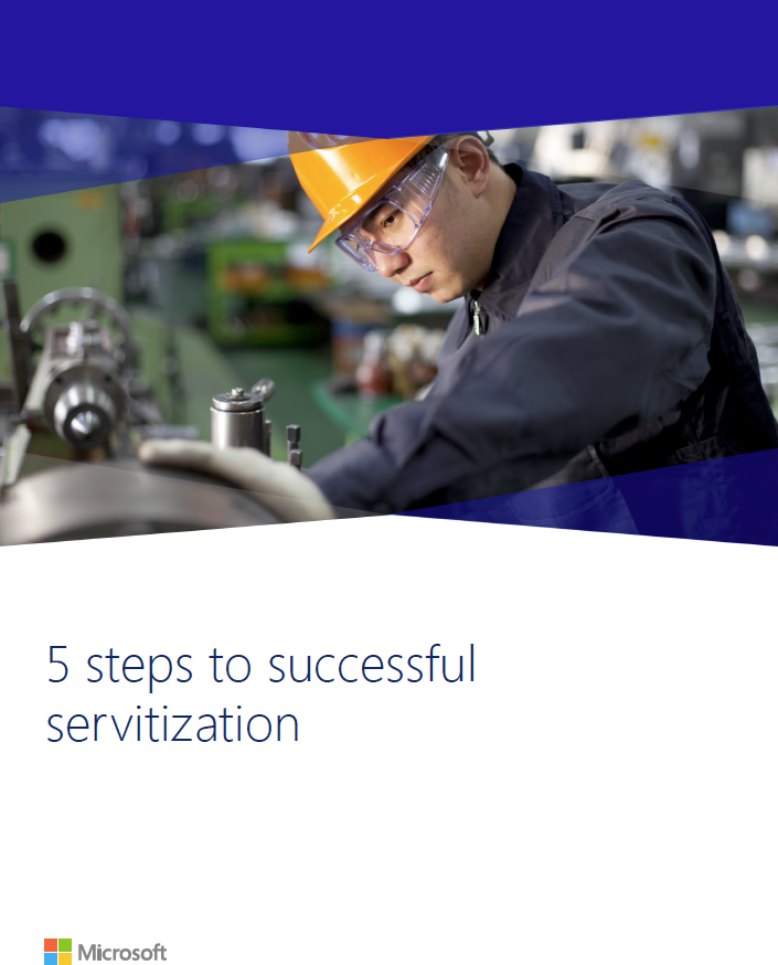Five Steps to Successful Servitization - Microsoft Whitepaper Front Cover
