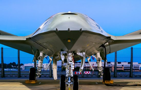 The new Boeing MQ-25 prototype drone aircraft. Image courtesy of Boeing.