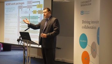 Rustam Stolkin talking at the NCNR workshop day - image courtesy of the University of Birmingham.