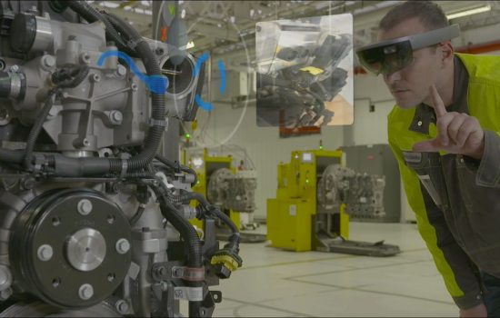 This month, Renault Trucks will be starting a new engine quality control process using mixed reality - image courtesy of Renault Trucks.