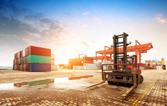 container terminal port logistics supply chain crates - image courtesy of Depositphotos