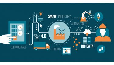 Smart factory industry concepts in network connectivity - image courtesy of Depositphotos.