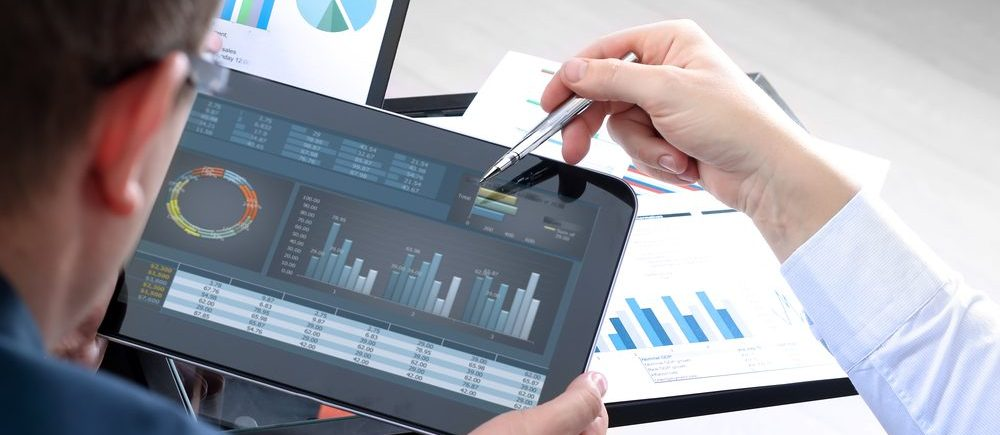 Data collecting and display Stock Image