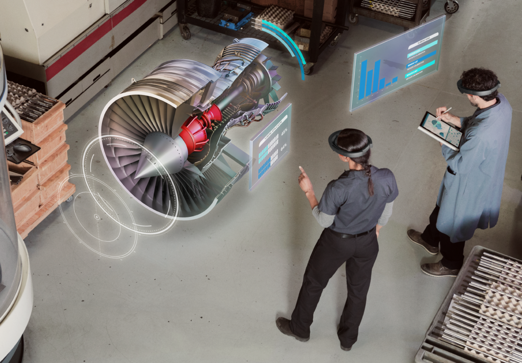 Microsoft HoloLens gives manufacturers the opportunity to design products and train staff in a far quicker and cheaper way than traditional techniques - image courtesy of Microsoft.