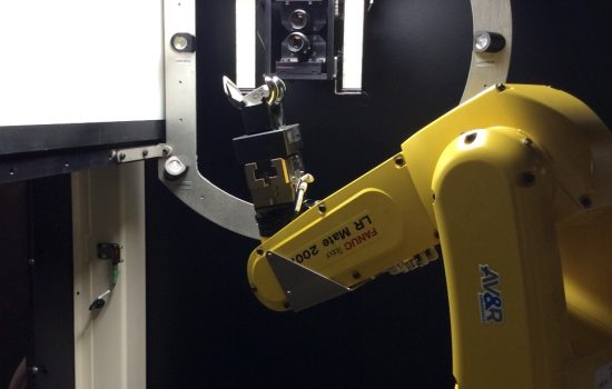 The AV&R automated visual inspection system in action at AMRC Factory 2050 - image courtesy of AMRC.