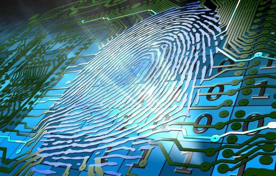 Biometric fingerprint-based identification - image courtesy of Depositphotos