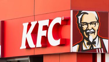 Kentucky Fried Chicken Restaurant Sign - KFC Chicken Shortage - image courtesy of Depositphotos.