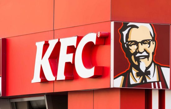 Kentucky Fried Chicken Restaurant Sign - KFC Chicken Shortage - image courtesy of Depositphotos.