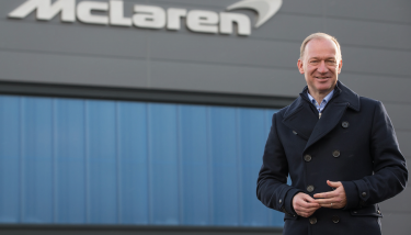 McLaren Automotive CEO, Mike Flewitt, outside the new McLaren Composites Technology Centre – image courtesy of McLaren.