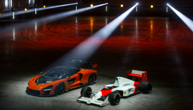 The McLaren Senna and Ayrton Senna's victorious McLaren MP4/5 – image courtesy of McLaren.
