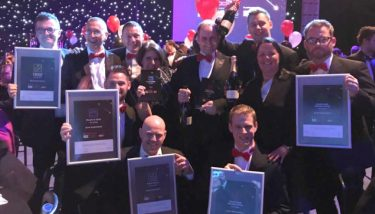 What winning looks like: the Dura Automotive team at the The Manufacturer MX Awards 2017 – image courtesy of Alison Dowd.