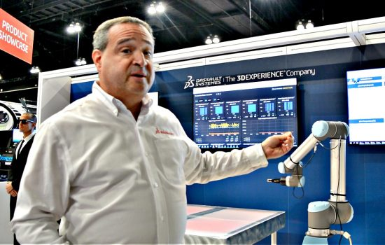 Louis Feinstein, Dassault Systèmes' portfolio manager for mechatronics and IoT solutions, at Solidworks World 2018.