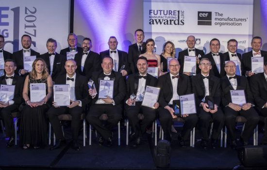 Winners of EEF Future Manufacturing Awards 2018 - image courtesy of EEF.