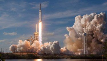 SpaceX's Falcon Heavy launches from Florida. Image courtesy of SpaceX.