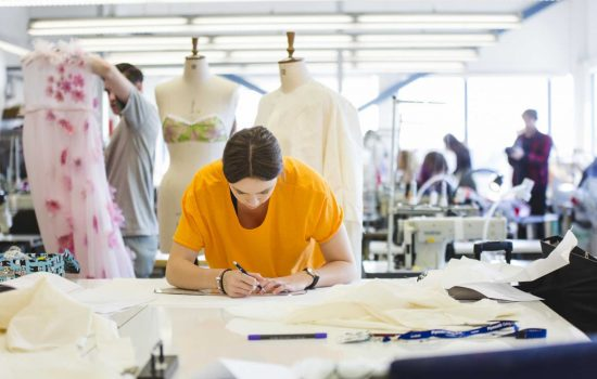 The College and Millfields Trust are launching a company to support British fashion manufacture - image courtesy of Plymouth College of Art.