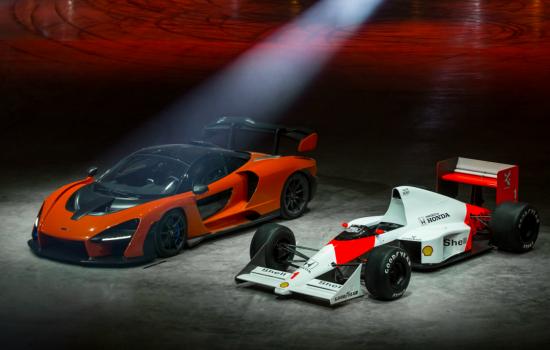 Resize - The McLaren Senna and Ayrton Senna's victorious McLaren MP4/5 – image courtesy of McLaren.