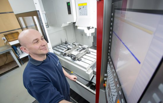 The business has invested nearly £100,000 into developing a turnkey solution for the vertical machining centre, supplied by ETG – image courtesy of Riverside Medical.