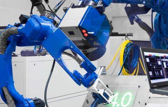 Fourth Industrial Revolution Robotics Robots Automation - Stock Image