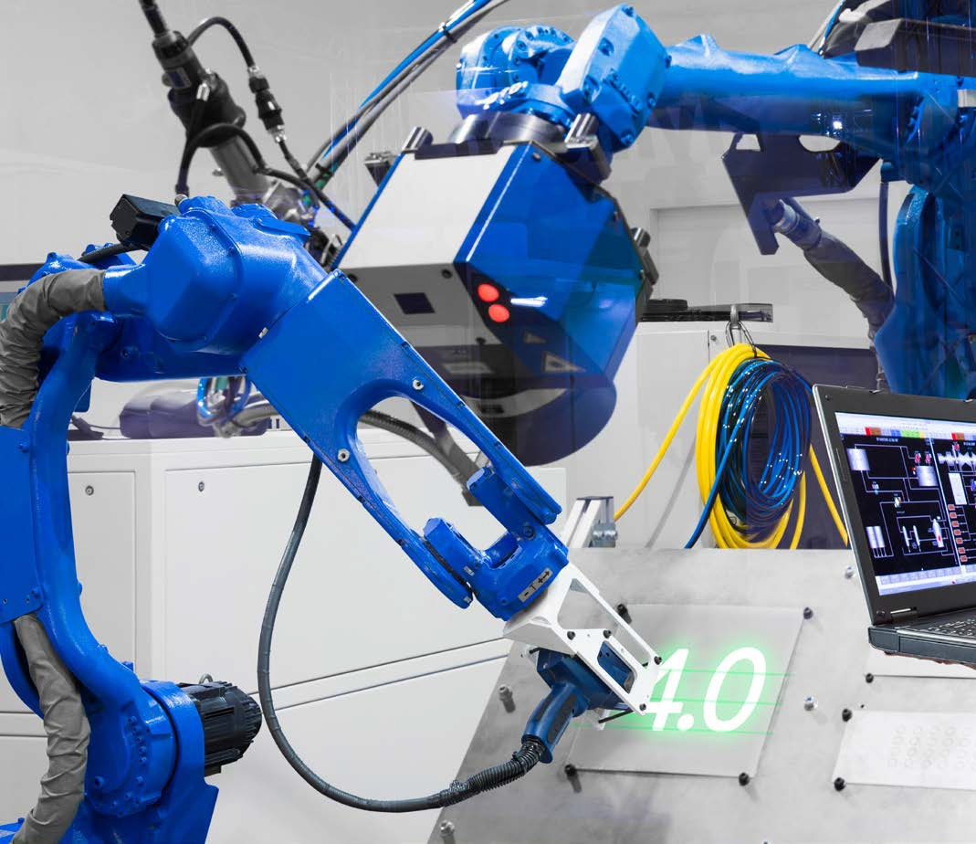 Fourth Industrial Revolution Robotics Robots Automation - Stock Image