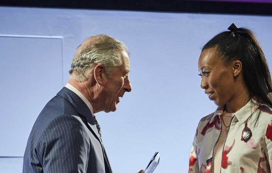 Resize - Abike Looi-Somoye receives the Industrial Cadet of the Year Award from HRH The Prince of Wales