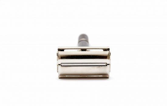 Old double edge safety Gillette razor - image courtesy of Depositphotos.