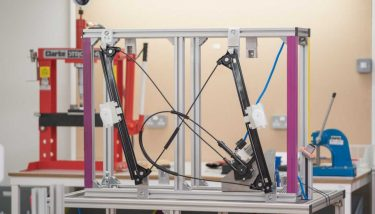 A CG rendering of MarchantCain's prototype for new lightweight window regulator system – image courtesy of MarchantCain.