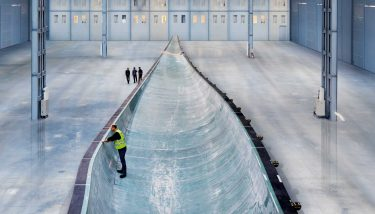 Turbine wind mould at the Siemens blade factory in Hull.