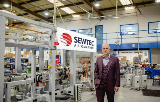 Robotics specialist Sewtec has created a bespoke machine which can pack 2,000 bags every minute - image courtesy of Sewtec.