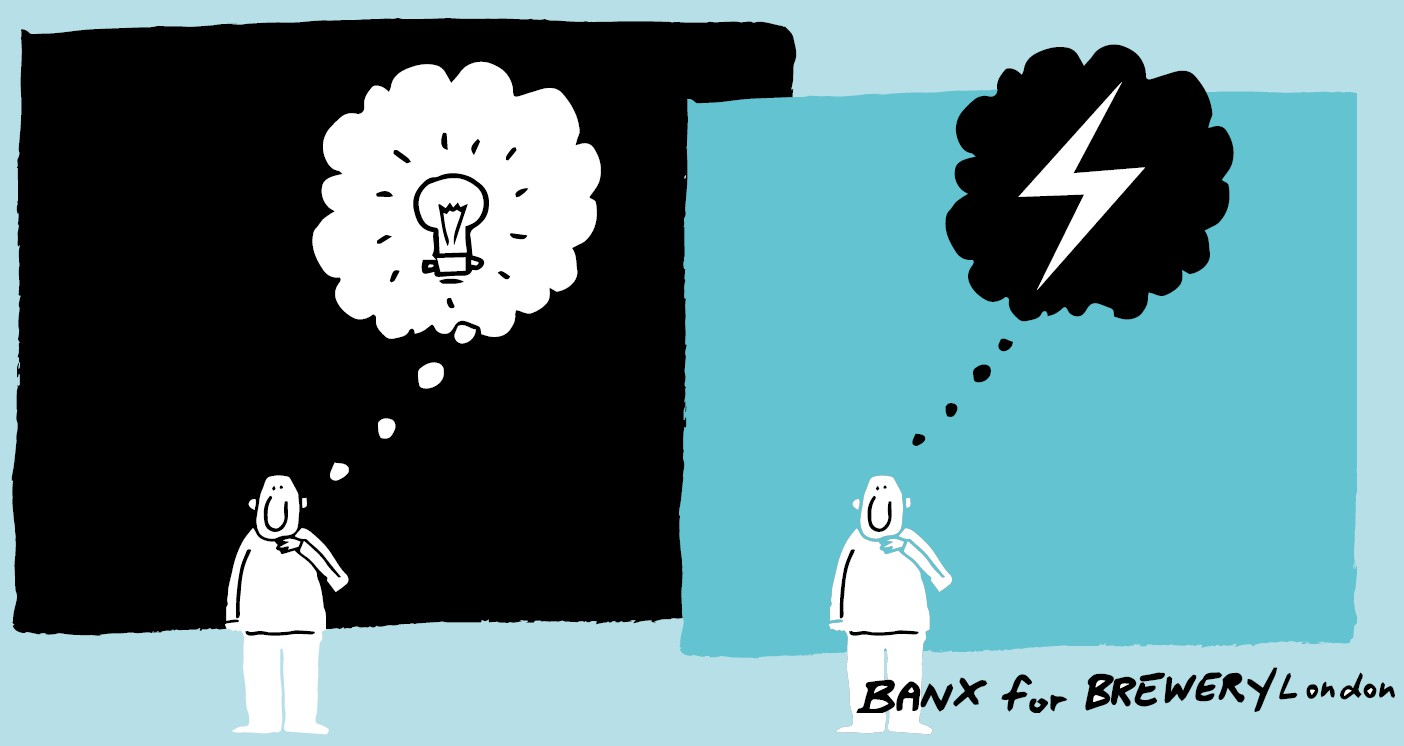 Managing business energy, brand and design thinking