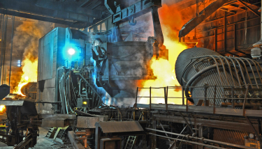 Greensteel - Liberty's electric arc furnace in Rotherham - image courtesy of Liberty House.