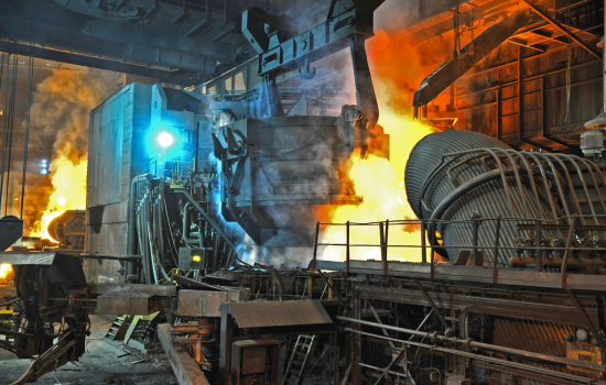 Liberty's electric arc furnace in Rotherham - image courtesy of Liberty House.