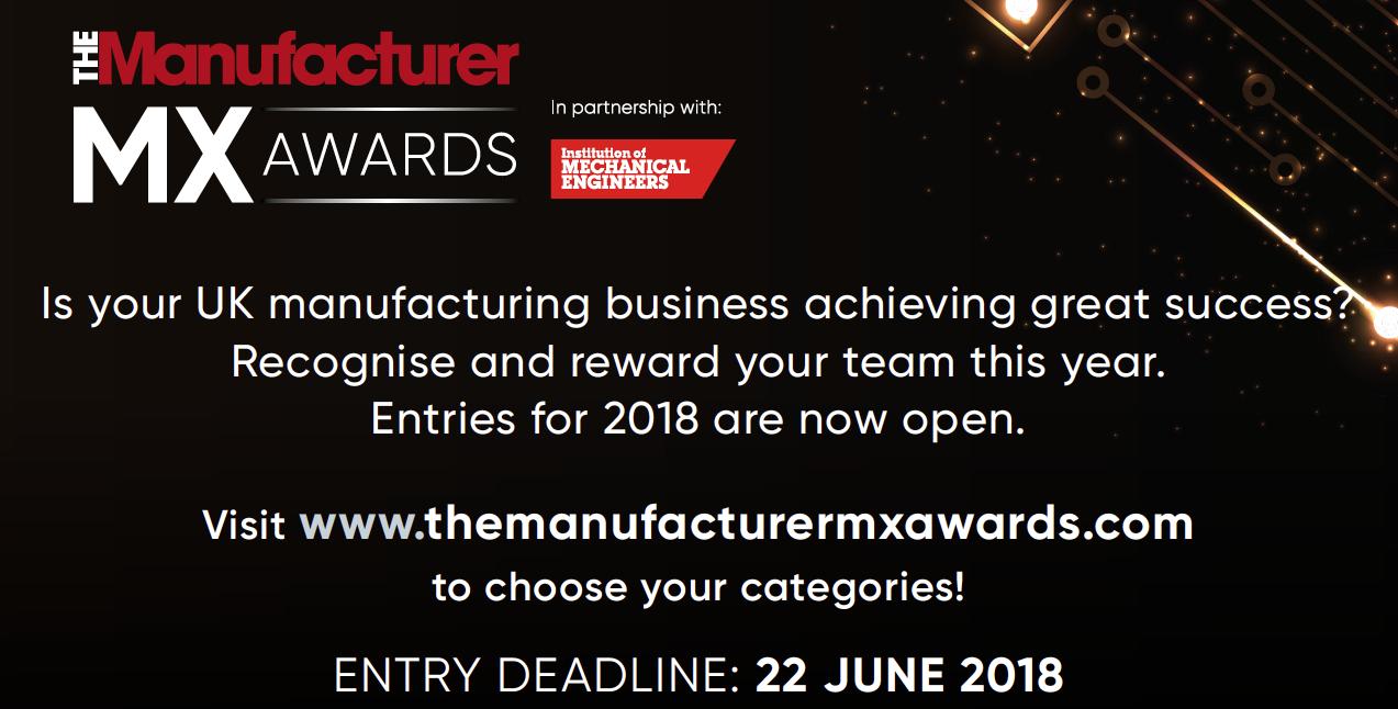 The Manufacturer MX Award 2018 TMMX Entry Promo