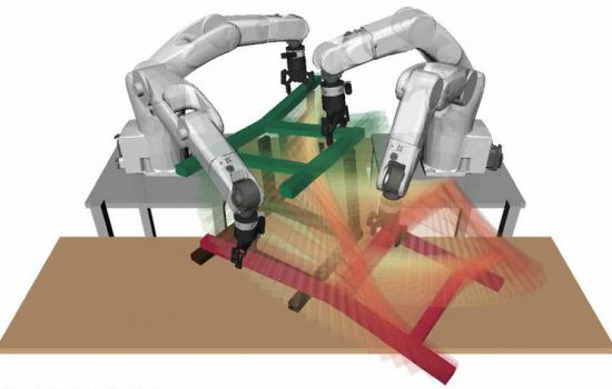 Scientists at Singapore University have developed a robot to assemble an IKEA chair - image courtesy of Singapore University.