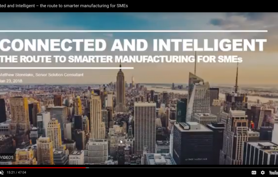 Connected and Intelligent Manufacturing webinar screen shot