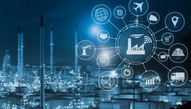 Connected Manufacturing IoT Stock Image