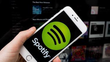 Spotify app logo on smartphone screen
