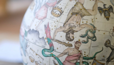 Celestial globes are also made by Bellerby - Andy Lockley.