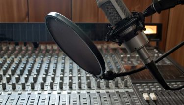 Studio vocal microphone music industry recording stock - image courtesy of Depositphotos.