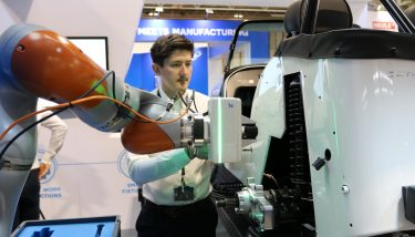 collaborative robotics - Cobots are are equipped with force-sensing to enable them to stop when they come into contact with an operator - image courtesy of AMRC.