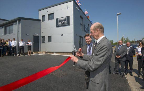 Dust Extraction - HRH The Duke Of Kent opens the new BOFA premises in Poole, Dorset - image courtesy of Chris Balcombe.