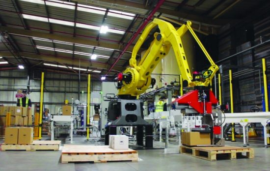 Part of the investment in the plant was on robotics and automation - image courtesy of FUCHS UK.