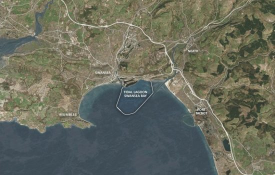 Proposed site of the now rejected Swansea Bay Tidal Lagoon