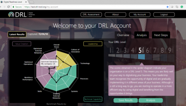 The new Digital Readiness Level Tool (DRL-Tool) was launched to great acclaim at the International Business Festival in Liverpool.